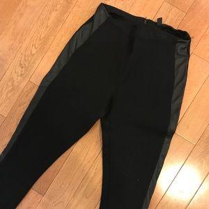 Jcew Pixie Pants with Genuine Leather Trim